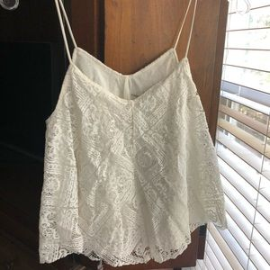 American Eagle Ivory Swing Lace Top